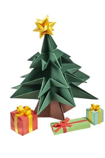 An origami Christmas tree |